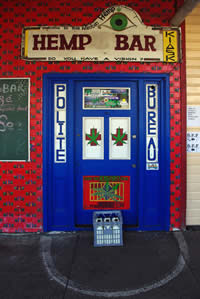 Nimbin Hemp Bar Door